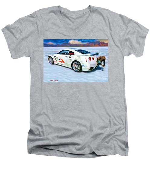 Nissan Salt Flats Men's V-Neck T-Shirt