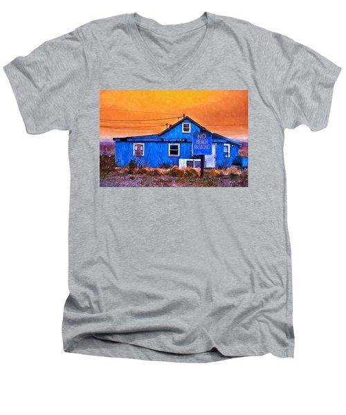 No Beach Parking Men's V-Neck T-Shirt
