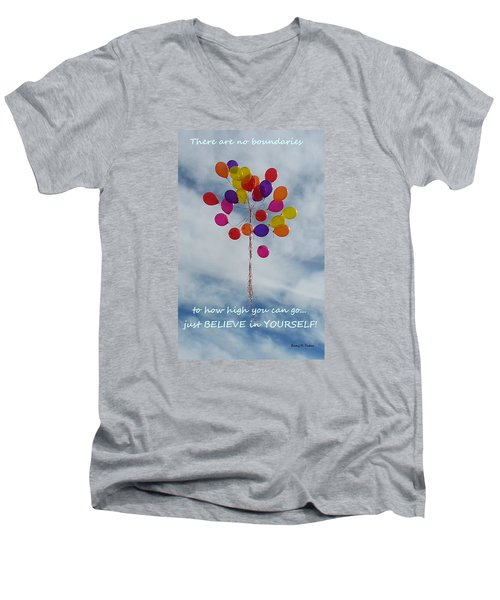 No Boundaries Men's V-Neck T-Shirt
