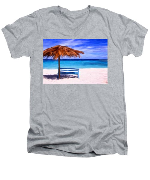 No Coronas Men's V-Neck T-Shirt by Michael Pickett