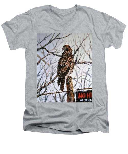 No Hunting Men's V-Neck T-Shirt