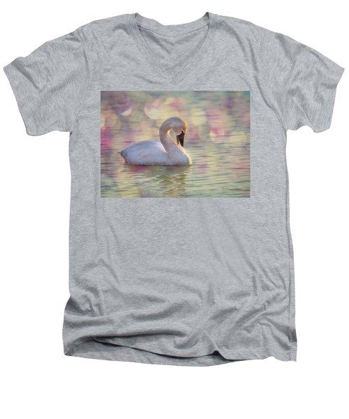 Shy Swan Men's V-Neck T-Shirt