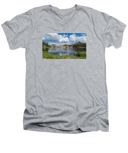 Sylvan Lake South Dakota Men's V-Neck T-Shirt by Patti Deters