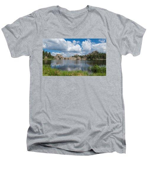Sylvan Lake South Dakota Men's V-Neck T-Shirt