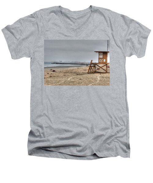 No Lifeguard On Duty Men's V-Neck T-Shirt