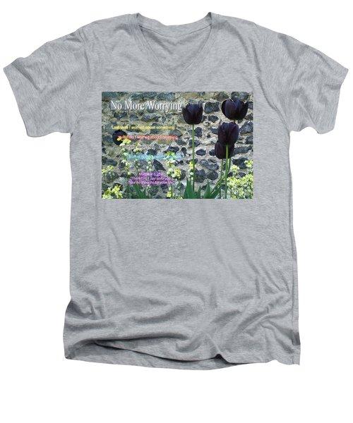 No More Worrying Men's V-Neck T-Shirt