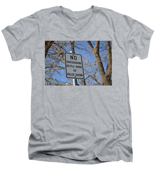 No Skating Men's V-Neck T-Shirt