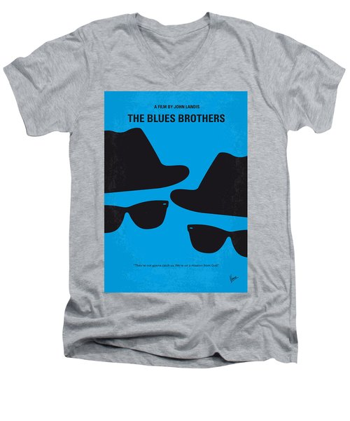 No012 My Blues Brother Minimal Movie Poster Men's V-Neck T-Shirt by Chungkong Art