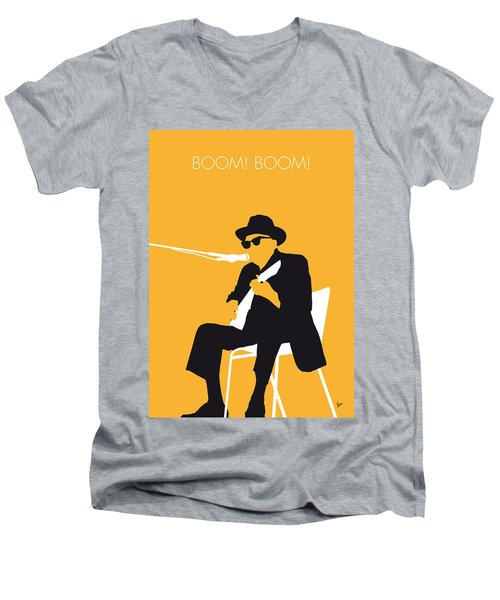 No054 My Johnny Lee Hooker Minimal Music Poster Men's V-Neck T-Shirt