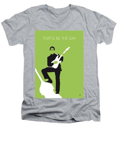 No056 My Buddy Holly Minimal Music Poster Men's V-Neck T-Shirt by Chungkong Art