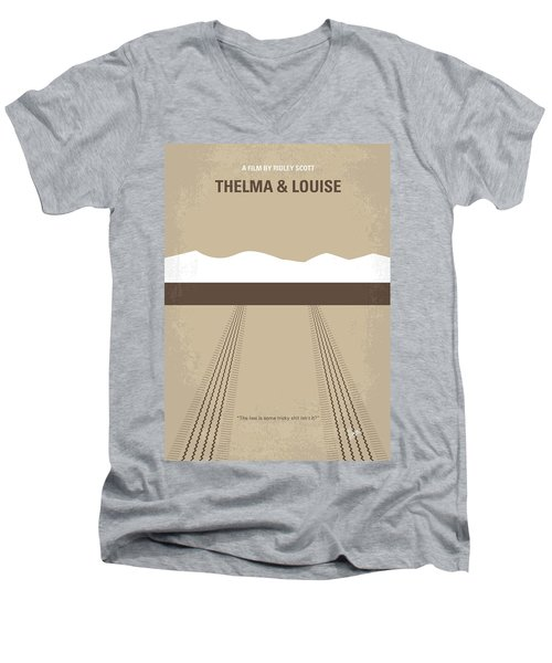 No189 My Thelma And Louise Minimal Movie Poster Men's V-Neck T-Shirt