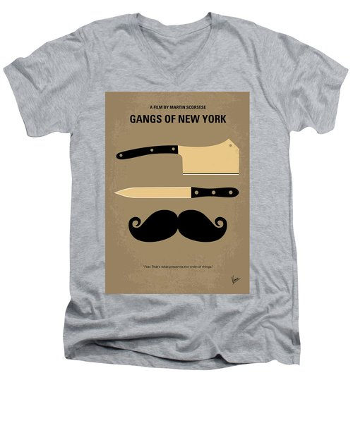 No195 My Gangs Of New York Minimal Movie Poster Men's V-Neck T-Shirt