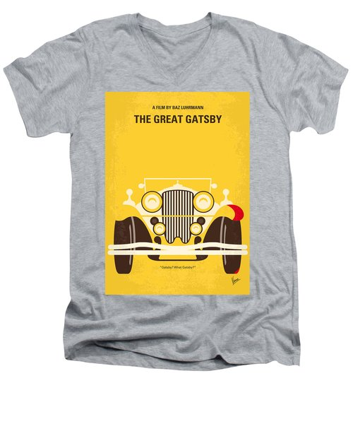 No206 My The Great Gatsby Minimal Movie Poster Men's V-Neck T-Shirt by Chungkong Art