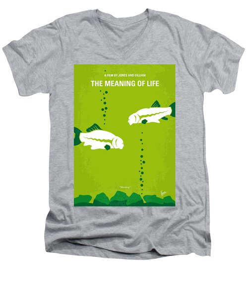 No226 My The Meaning Of Life Minimal Movie Poster Men's V-Neck T-Shirt by Chungkong Art