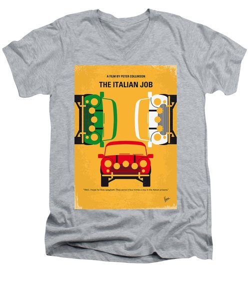 No279 My The Italian Job Minimal Movie Poster Men's V-Neck T-Shirt by Chungkong Art