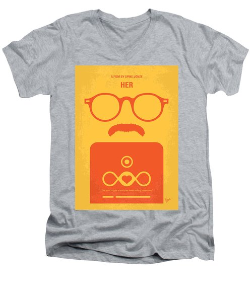 No372 My Her Minimal Movie Poster Men's V-Neck T-Shirt