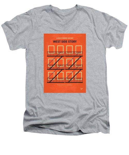 No387 My West Side Story Minimal Movie Poster Men's V-Neck T-Shirt