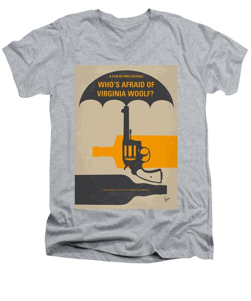 No426 My Whos Afraid Of Virginia Woolf Minimal Movie Poster Men's V-Neck T-Shirt