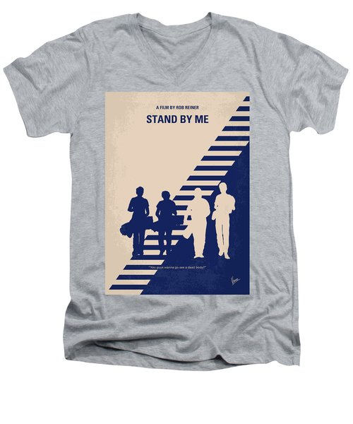 No429 My Stand By Me Minimal Movie Poster Men's V-Neck T-Shirt