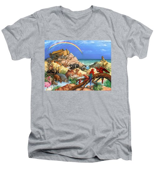 Noah And The Ark Men's V-Neck T-Shirt