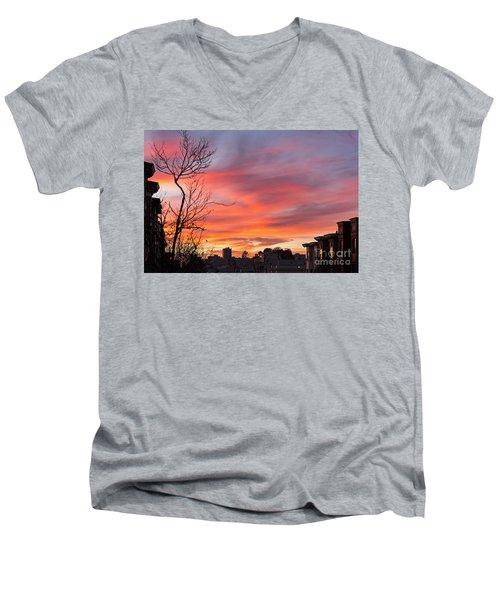 Nob Hill Sunset Men's V-Neck T-Shirt