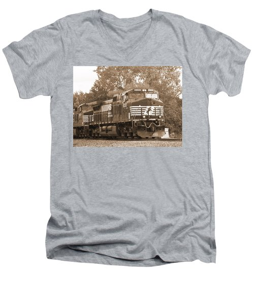 Norfolk Southern Freight Train Men's V-Neck T-Shirt