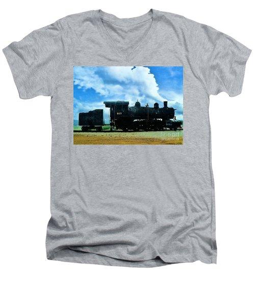Norfolk Western Steam Locomotive 917 Men's V-Neck T-Shirt