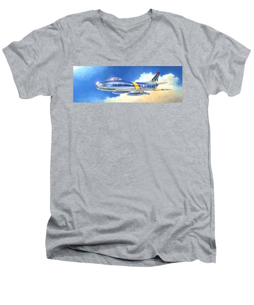 North American F-86f Sabre Men's V-Neck T-Shirt