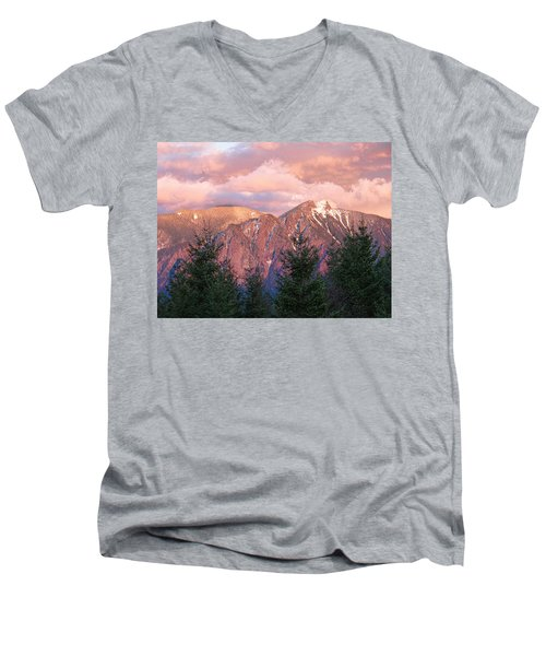 North Bend Washington Sunset 2 Men's V-Neck T-Shirt