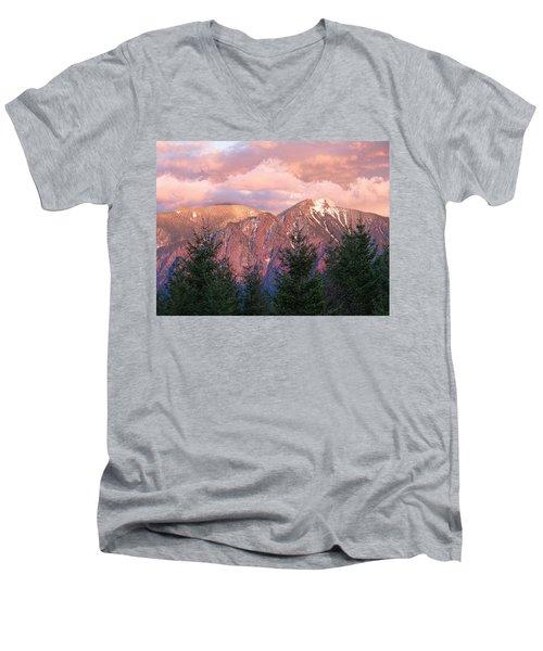 North Bend Washington Sunset 2 Men's V-Neck T-Shirt