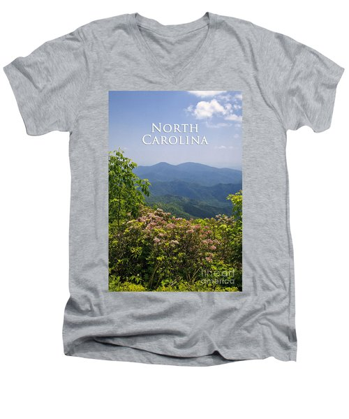 North Carolina Mountains Men's V-Neck T-Shirt