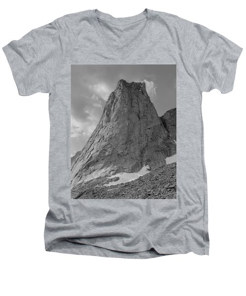109649-bw-north Face Pingora Peak, Wind Rivers Men's V-Neck T-Shirt