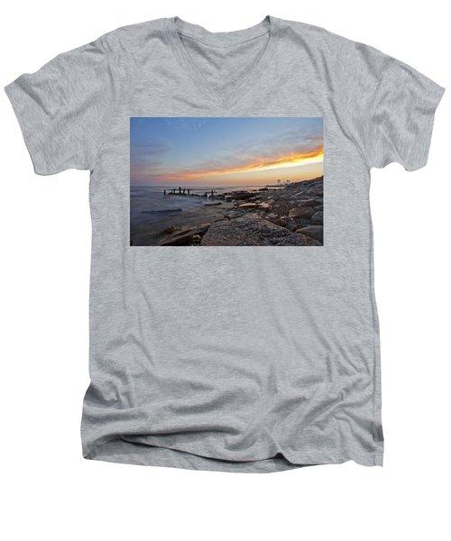 North Point Sunset Men's V-Neck T-Shirt