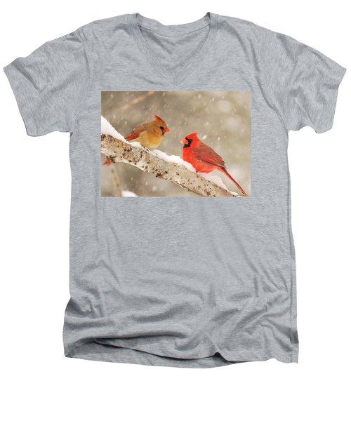 Northern Cardinals Men's V-Neck T-Shirt