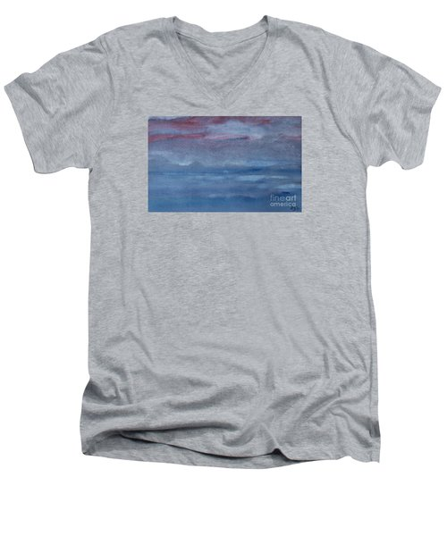 Men's V-Neck T-Shirt featuring the photograph Northern Evening by Susan  Dimitrakopoulos