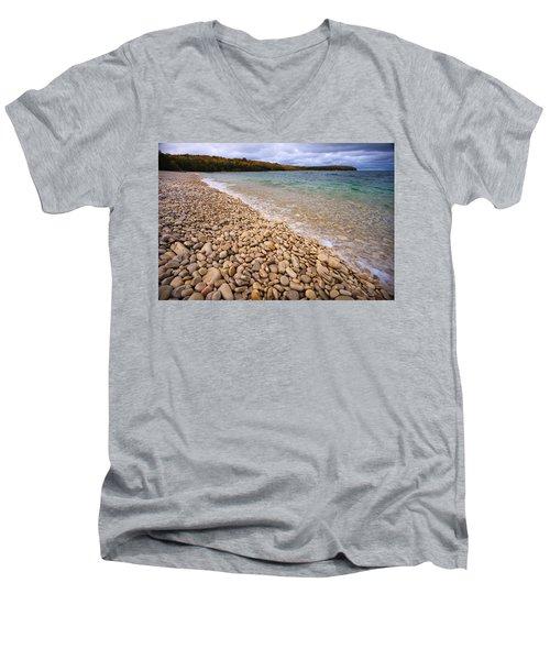 Northern Shores Men's V-Neck T-Shirt by Adam Romanowicz