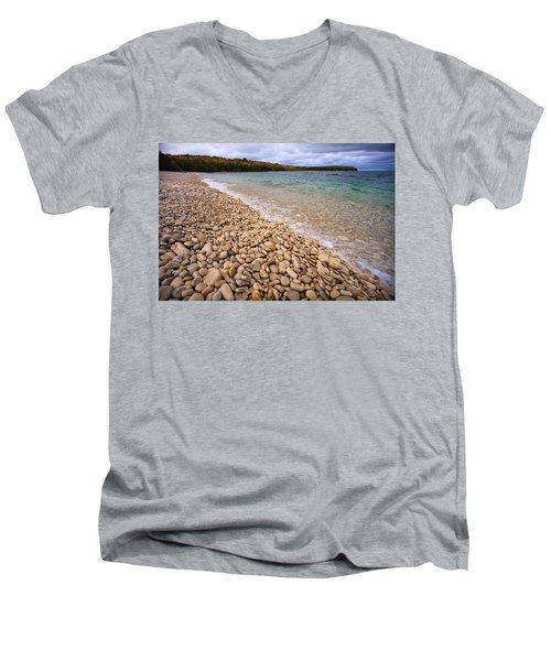 Northern Shores Men's V-Neck T-Shirt by Adam Romanowicz