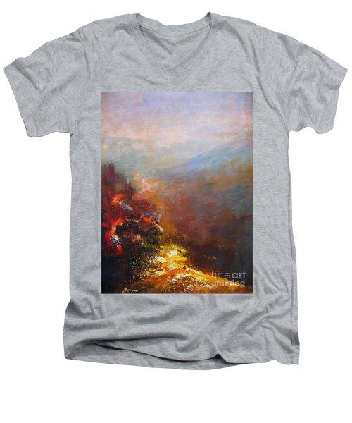 Nostalgic Autumn Men's V-Neck T-Shirt
