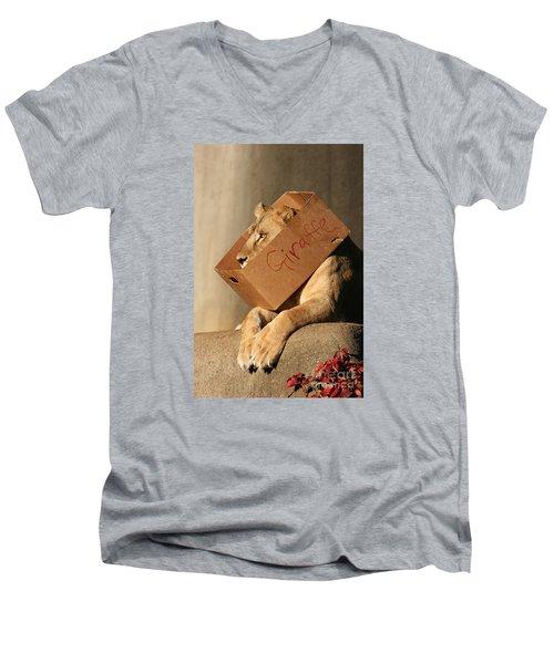 Not A Giraffe Men's V-Neck T-Shirt