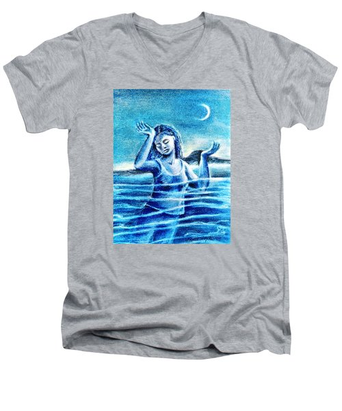 Not Waving But Drowning Men's V-Neck T-Shirt by Trudi Doyle