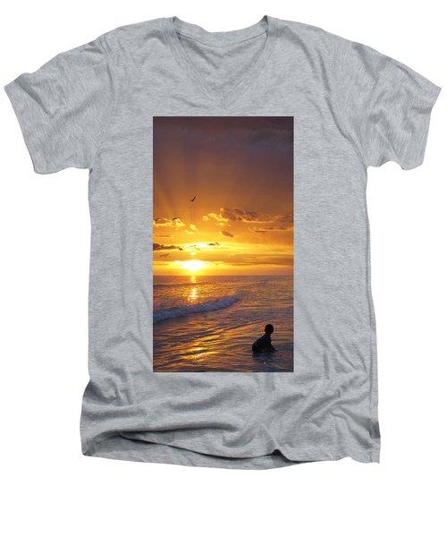 Not Yet - Sunset Art By Sharon Cummings Men's V-Neck T-Shirt