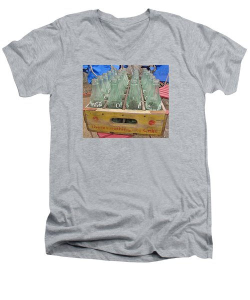 Men's V-Neck T-Shirt featuring the photograph Nothing Like A Coke by Barbara McDevitt