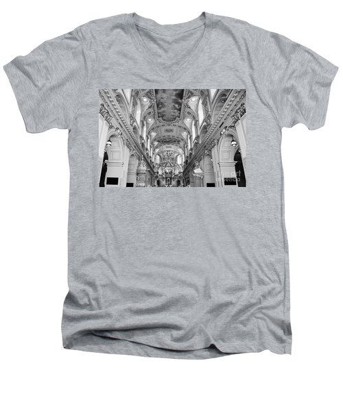 Notre-dame Basilica Men's V-Neck T-Shirt