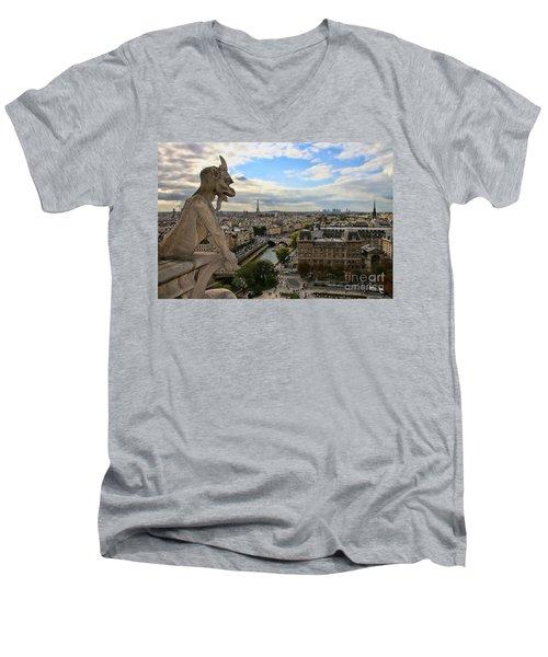 Notre Dame Gargoyle Men's V-Neck T-Shirt