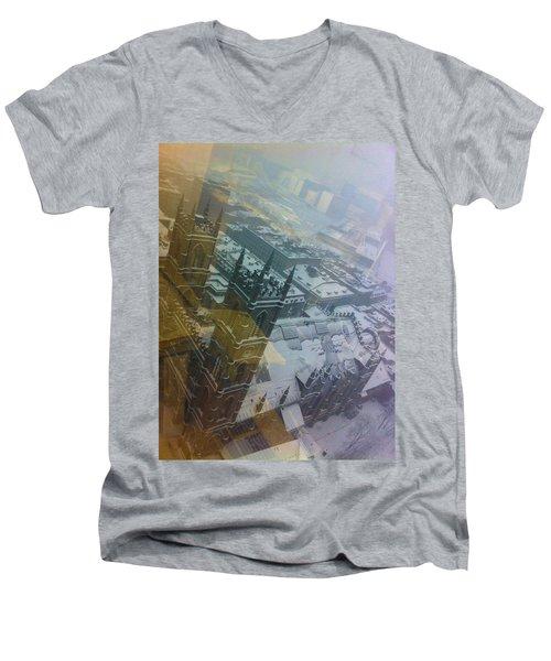 Notre Dame On The Vertical Men's V-Neck T-Shirt by Valerie Rosen