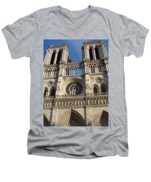 Men's V-Neck T-Shirt featuring the photograph Notre Dame by Tiffany Erdman