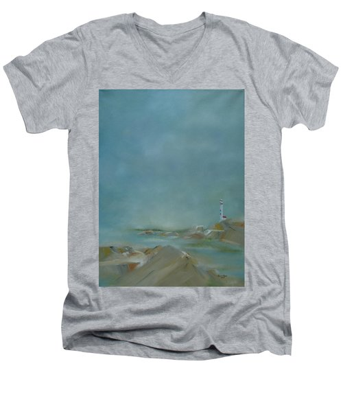 Nova Scotia Fog Men's V-Neck T-Shirt by Judith Rhue