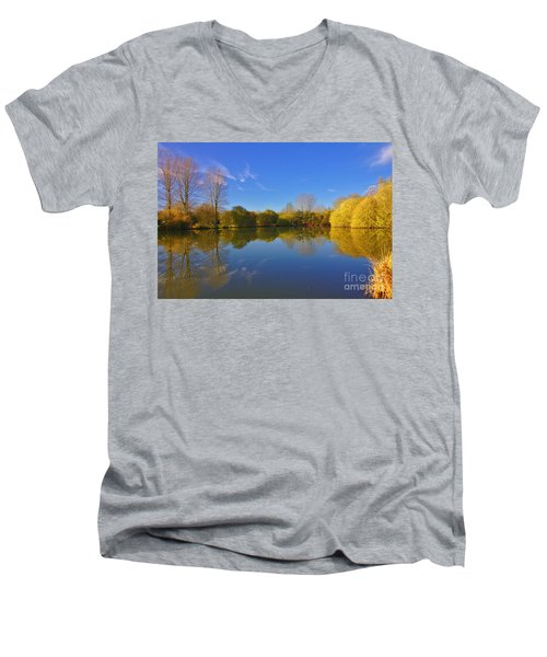 November Lake 1 Men's V-Neck T-Shirt