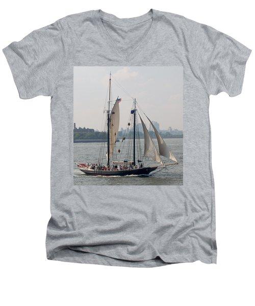 Ny Harbor Schooner Men's V-Neck T-Shirt