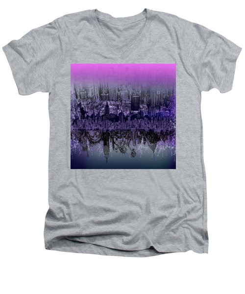 Nyc Tribute Skyline Men's V-Neck T-Shirt